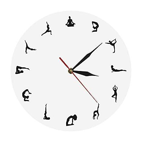 Amazon.com: Harlica - Reloj de pared para yoga, meditación ...