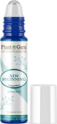 New Beginning Essential Oil Blend Roll On 10 ml 100% Pure Pre-Diluted Therapeutic Grade for Aromatherapy for Centering, Meditation, Yoga, Anxiety, Depression, Stress, Relaxation, Uplifting, Calming