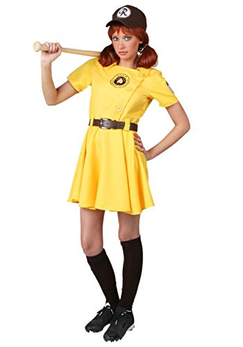 Womens A League of Their Own Kit Costume Large Yellow (Kit Costume A League Of Their Own)