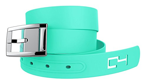 C4 Classic Belt: Mint Strap with Silver Chrome Buckle - Fashion Belt - Waist Belt