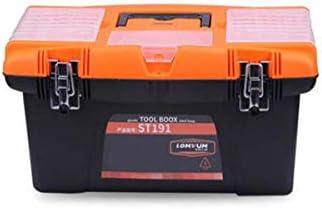 CHUNSHENN ツールボックス 工具箱 以下のために適した家庭用屋外修理工具収納ボックス、PPプラスチック製多機能サイズ40 * 19 * 21センチ(カラー:ブラック、サイズ:40 * 19 * 21センチ)