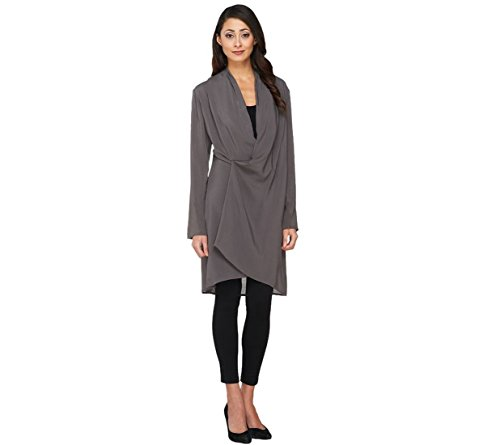 Lisa Rinna Collection Long Slv Wrap Front Tunic A262992
