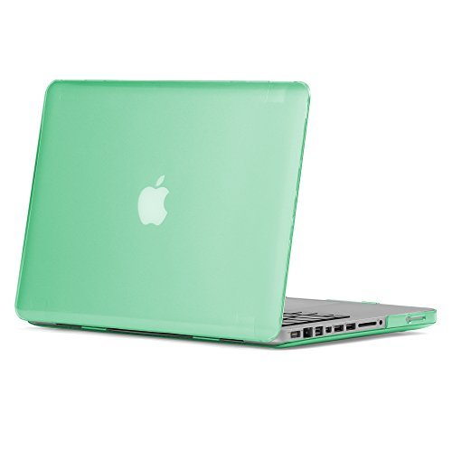 GMYLE Soft-Touch Frosted Hard Case for MacBook Pro 13 inch with CD-ROM (Model: A1278) - Aqua Green