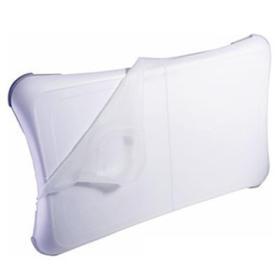 Nintendo WII FIT Balance Board Clear - White Silicon Skin Cover Sleeve Anti-slip -