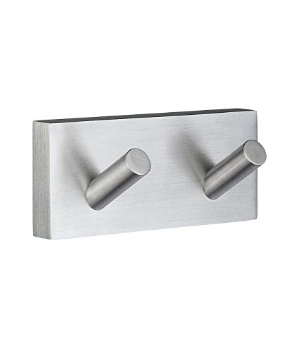 Smedbo SME RS356 Towel Hook Double, Brushed Chrome