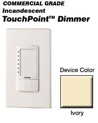 (Leviton TPI10-1LI TouchPoint Incandescent Touch-Pad Dimmer - Ivory)