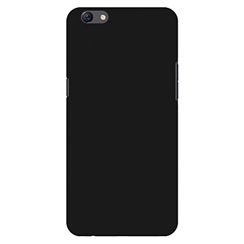 31MaC30lr4L AMZER Slim Fit Handcrafted Designer Printed Hard Shell Case Back Cover for Oppo F3 Plus - Carbon Black With Texture.