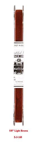 5/8 Inch Light Cream (Renaissance 10 Yards Vintage Satin Back Velvet Ribbon Fabric Made in Switzerland (5/8)