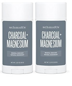Schmidts Natural Deodorant - Charcoal + Magnesium 3.25 Oz Stick; Aluminum-Free Odor Protection & Wetness Relief (2 Sticks) by Schmidt's Deodorant