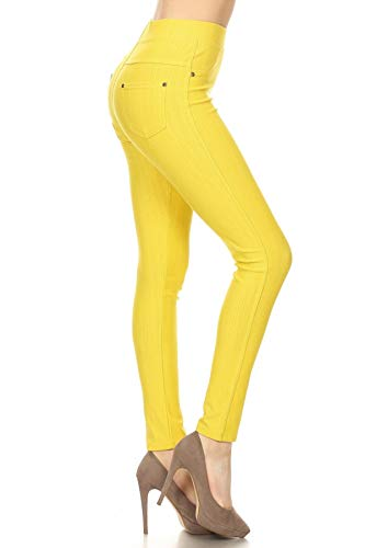 Yellow Ankle Pants - Jeggings Yellow (J04-1004OS-YELLOW)