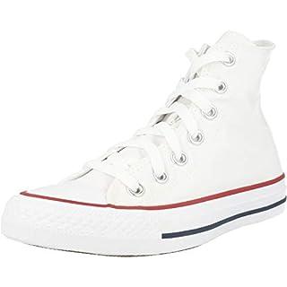 Converse Clothing & Apparel Chuck Taylor All Star Canvas High Top Sneaker, Optical White, 6.5 Women/4.5 Men