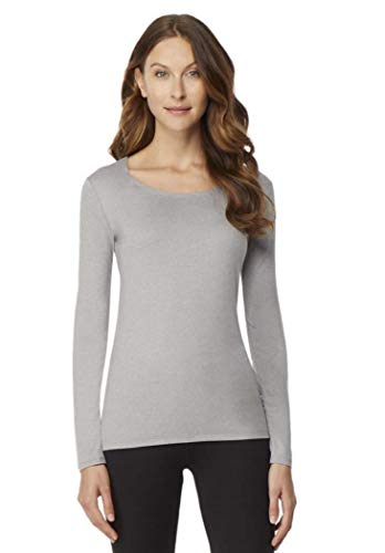 32Degrees Womens Heat Scoop Neck Thermal Top Frozen Snowflake Small ()