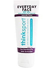 THINKSPORT - Everyday Face Sunscreen, Naturally Tinted, Currant - 2 fl. oz. (59 ml)