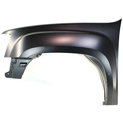 New Front Driver Side Fender For 2007-2013 GMC Sierra 1500 Made Of High Strength Galvanized Steel GM1240342 -