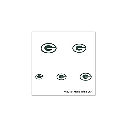 NFL Green Bay Packers Fingernail Tattoos, Black (Green Bay Packers Tattoo)