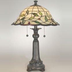 Dale Tiffany TT60574 Donavan Table Lamp, Mica Bronze and Art Glass - Glass Tulare