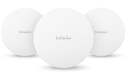 EnGenius Technologies EAP1250-3Pack (3) 802.11AC Wave 2, Concurrent Dual-Band, Compact size Wireless Access Point, Standard PoE (Power Adapter NOT included) (Engenius Wireless Repeater)
