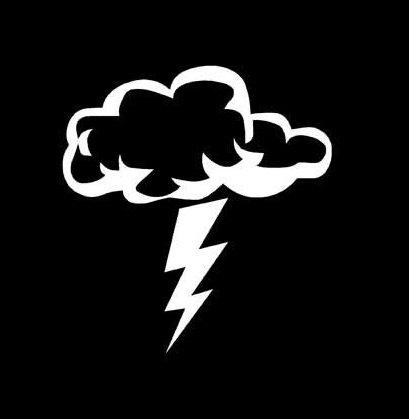 Buy lightning decal sticker