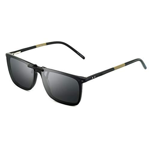 Polarized Clip-on Clip Rimless Sunglasses for Prescription Eyeglasses ()