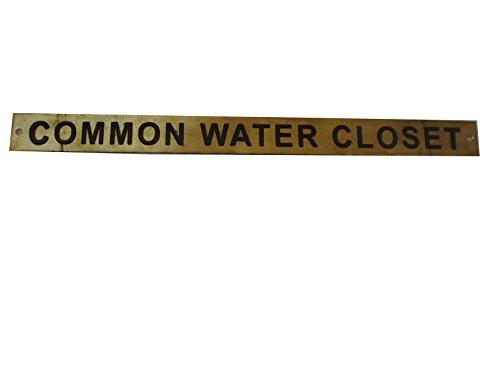 (Marine Brass Door Sign Board - Door Plaque - Engraving - Boat Nautical Navy Yacht Home Decor (Common Water Closet - Size: 12