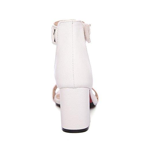 Korkokenkiä Valkoinen Mekko Sandaalit Roomalaistyylinen Sandaali Naisten Paksu Strappy Alustan Aiweiyi 1c6OAfWq