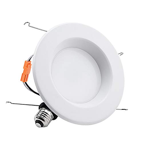 TORCHSTAR 5-6 Inch Dimmable Recessed LED Downlight with Smooth Trim, 15W (90W Eqv.), CRI 90, UL, 5000K Daylight, 1250lm, Retrofit Lighting, 5 Years Warranty