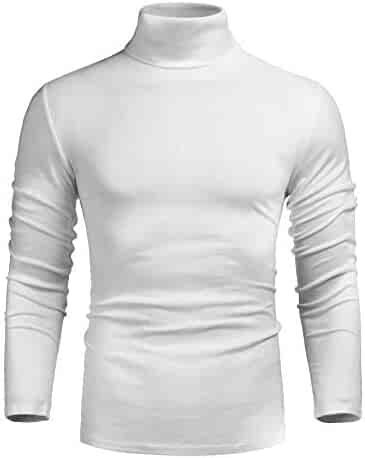 9eb449084 poriff Men's Casual Slim Fit Basic Tops Knitted Thermal Turtleneck Pullover  Sweater