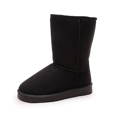 Snow Heel For Shoes Fluff Boots Comfort Lining Round US8 5 UK6 Winter Mid Boots Women'S RTRY Fashion 5 Boots Fall Novelty Toe Fleece CN40 EU39 Boots Calf Flat Zxzz1q
