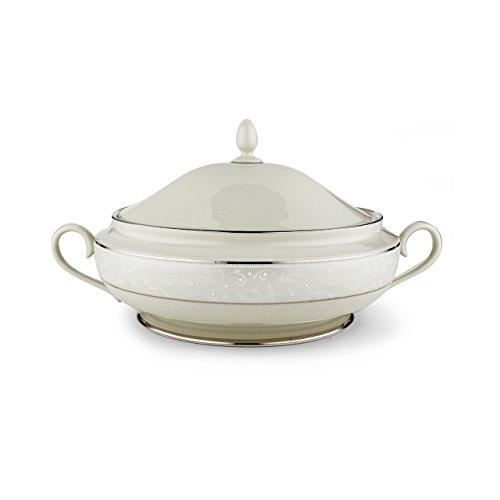 Lenox Pearl Innocence Covered Vegetable Bowl (Round Bowl Covered White Vegetable)