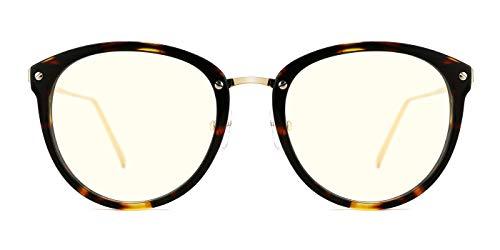 TIJN Blue Light Block Glasses|Round Optical Eyewear Non-prescription Eyeglasses Frame for -