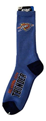 (Oklahoma City Thunder Deuce Crew Socks Mens Size Large 10-13 - For Bare Feet)