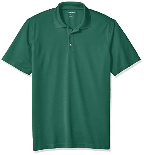 - Geoffrey Beene Men's Big and Tall Short Sleeve Ottoman Solid Polo Shirt, Green Smoke pine, Large Tall