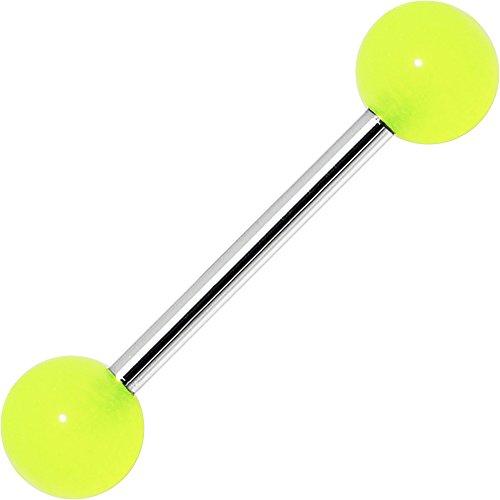 Neon Green Barbell Tongue Ring