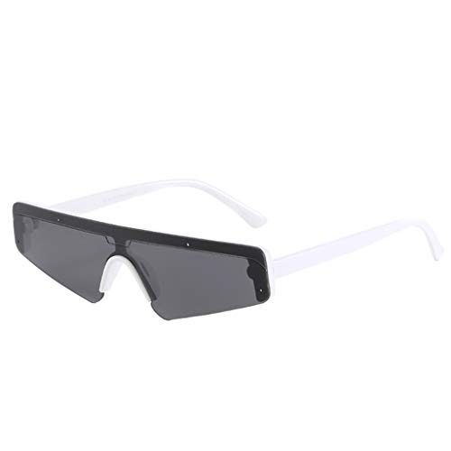 Haluoo Cool Sunglasses for Men Women Fashion Sports Sun Glasses Shades Plastic Frame Eyewear Accessories (White)