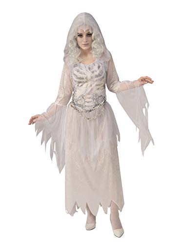 Rubie's Women's Opus Collection Ghosts Adult Ghostly Woman Costume, White/Grey, Medium