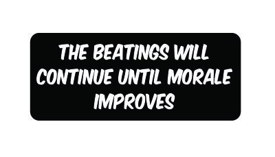 Amazon.com  (3) The beatings will continue until morale improves ... c190ee5f8e5