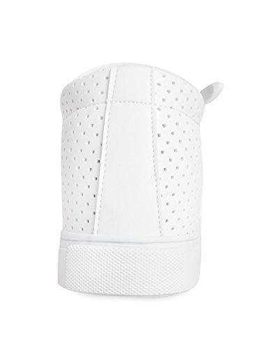 Mnx15 Damesliftschoenen Hoogte Toename 2.4 Klimop Witte Sleehak Sneakers Hoge Hak Sneakers Wit
