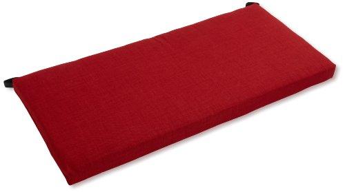 Blazing Needles Indoor/Outdoor Spun Poly 19-Inch by 42-Inch by 3-1/2-Inch Bench Cushion, Paprika (Indoor Bench Pads)