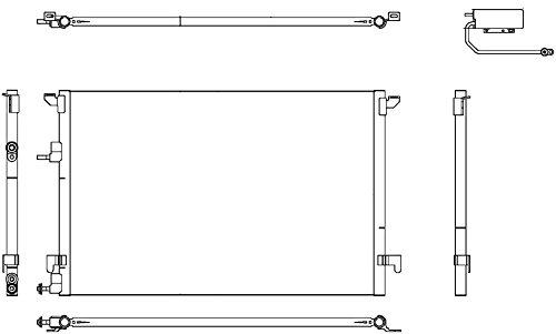 Behr Hella Service 351304471 Condenser for Saab 9-3 2L (Behr Air Conditioning)