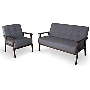Amazon.com: Container Furniture Direct S5416-S - Sofá ...