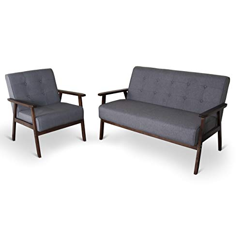 Modern Sets Sofa Leather - Mid-Century Retro Modern Living Room Sofa Set with Loveseat and Seating Sofa Chair, Couch and Lounge Chairs