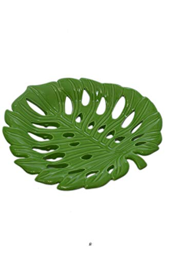 Leaf Shaped Bowl - Green Large 9