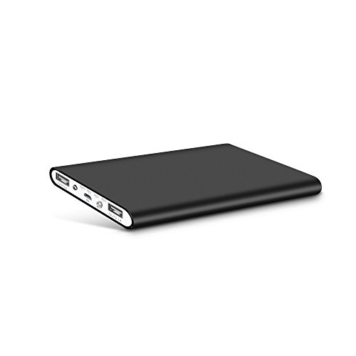 Polanfo NO.M20000 Power Bank Universal Ultra Compact 8000mAh External Battery for Smartphone & Tablets- Black