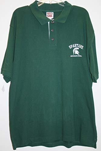 Michigan State Spartans NCAA Green Polo Shirt (Large)