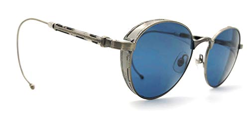 Matsuda M3061 AS Limited Edition Sunglasses with exchangeable temples (curved wire cable/librarian temples + standard skull temples) and side shields
