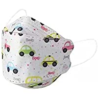 10pcs KF94 Car Printed Protective Face Mask for Kids, 4 Layers Virus Filter Protection, Filter Efficiency ≥ 95…