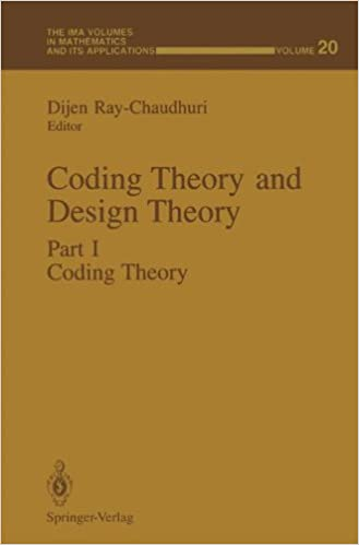 Book Coding Theory and Design Theory: Part I Coding Theory (The IMA Volumes in Mathematics and its Applications)