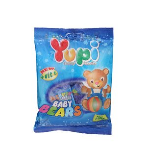 Yupi, Gummy Candies, Baby Bears, net weight 120 g (Pack of 2 pieces)