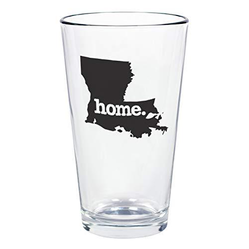 "Home State Apparel Set of 4 Louisiana""home."" Pint Glasses"