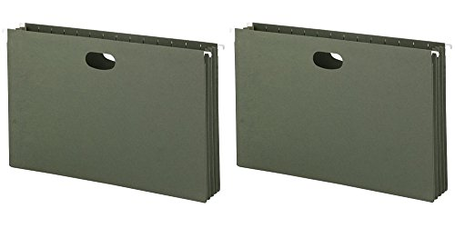 Smead Hanging File Pockets, 3-1/2 Inch Expansion, Legal Size, Standard Green, 10 Per Box (64320) (2 X Pack of 10) by Smead